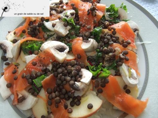 choucroute, lentilles