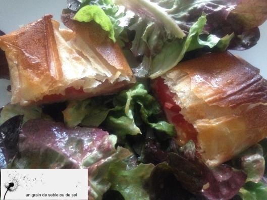 brick, salade