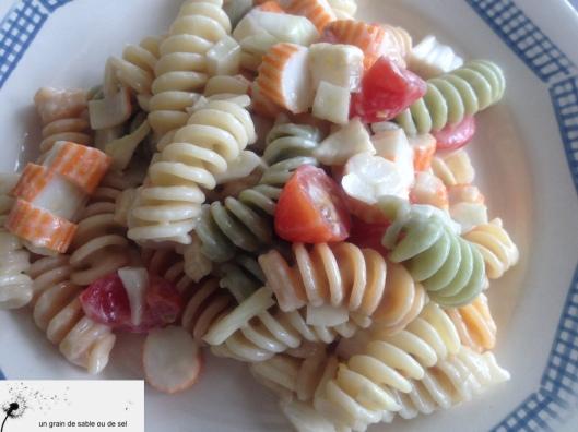 salade de pâtes tricolore