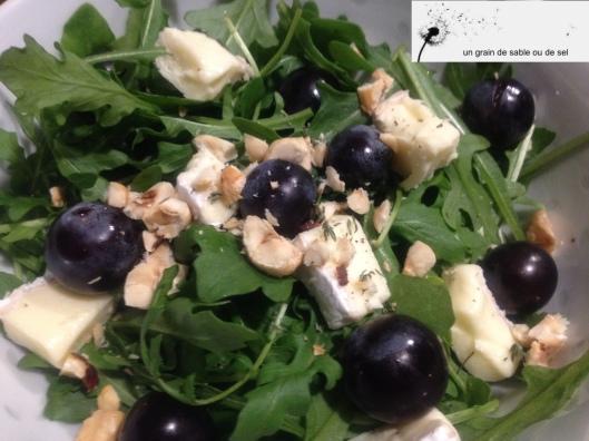 mesclun aux raisins & brie